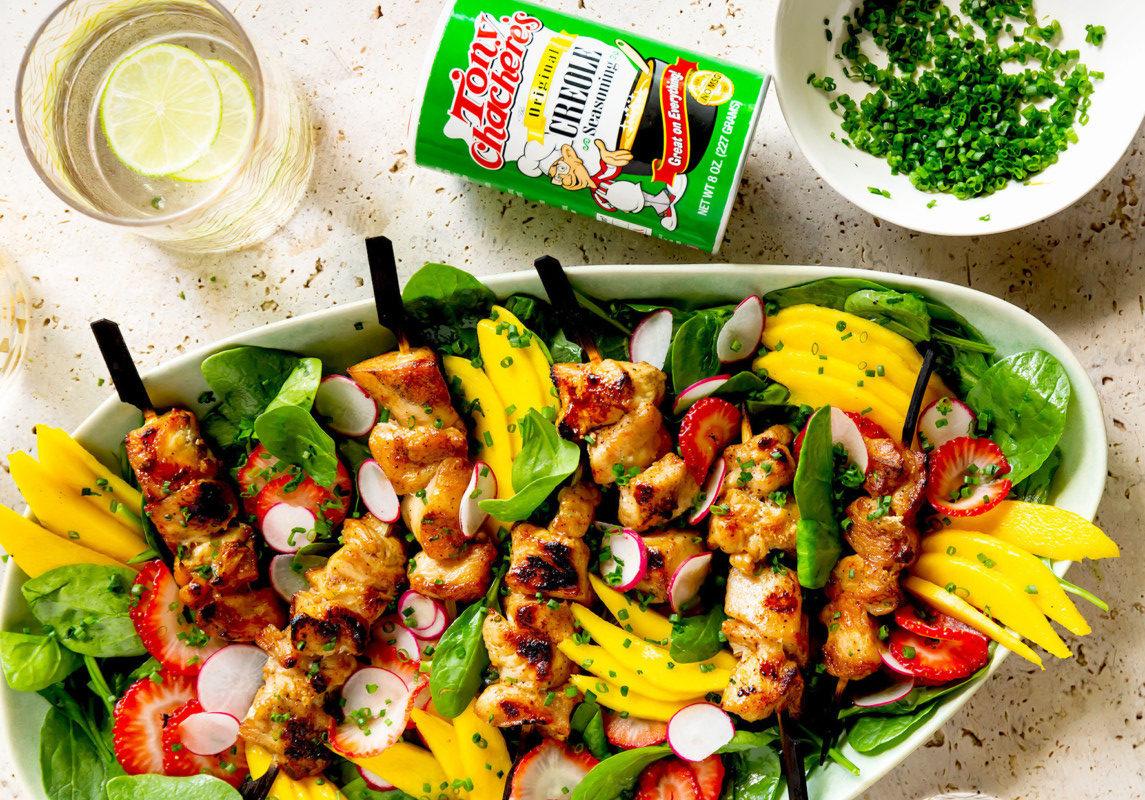 Tonys Creole Chicken Kabobs
